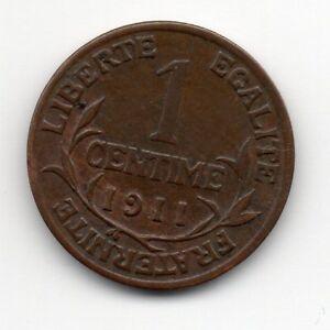 France-Frankrijk-1-Centime-1911