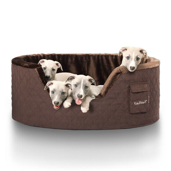 Knuffelwuff Hundebett Hundebett Hundebett Henry aus 5cm Schaumstoff braun 19a1c4