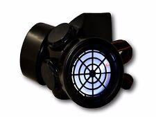 TrYptiX Cyber Goth Steampunk Light Up Gas Mask WHITE LED Burning Man EDC