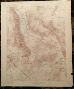 Details about USGS Topographic Map 1911 Data HAWTHORNE QUADRANGLE,  CALIFORNIA-NEVADA