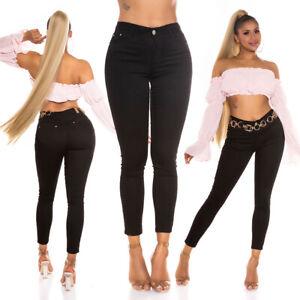 Jeans High Waist Skinny Women's Jeans Trousers Black