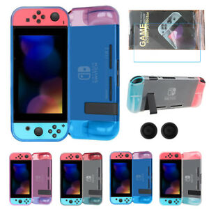 For-Nintendo-Switch-Slim-Soft-TPU-Half-Clear-Case-Cover-Shell-Screen-Protector
