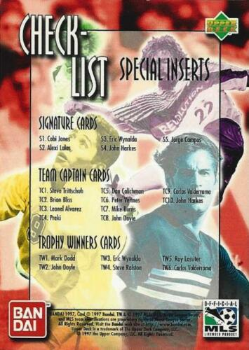 NY//NJ Metro Stars 1997 Upper Deck Bandai Major League Soccer Base Commons