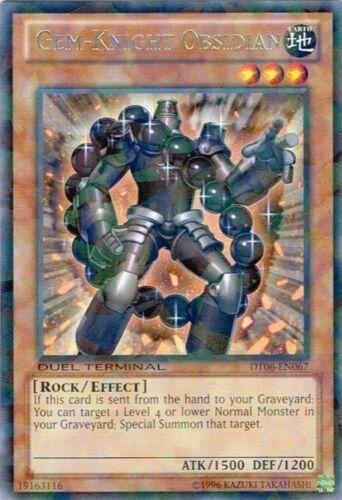 DT06-EN067 Rare Parallel Rare Near Mint Gem-Knight Obsidian Duel Terminal