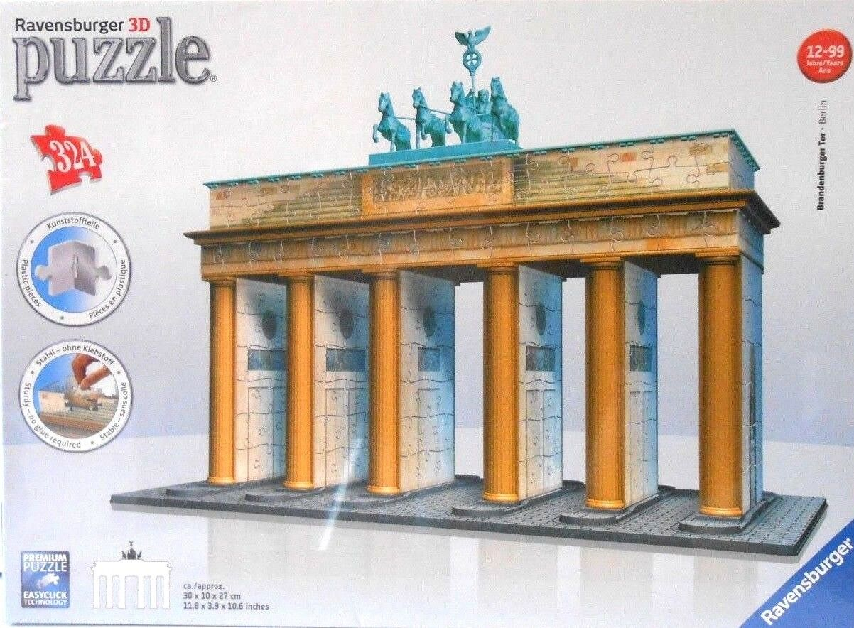 PUZZLE - JIGSAW RAVENSBURGER 3D  BRANDENBURG GATE  324 PIECES - NIP