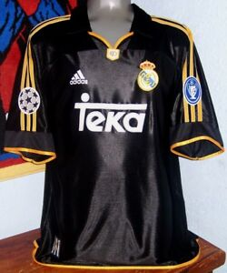 low priced 3a6a9 a4957 Details about ADIDAS REAL MADRID CHAMPIONS LEAGUE 2000 AWAY RAUL ORIGINAL  JERSEY SHIRT