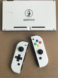 Nintendo Switch Custom Joy Con Controller Joy Cons White D Pad Backplate Ebay