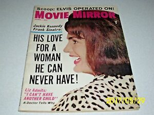 Details about MOVIE MIRROR Magazine April 1965 Jackie Kennedy cover ELVIS  operation Liz Taylor