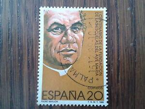 sello-usado-centenario-fundacion-escuelas-del-Ave-Maria-edif-3028-ano-1989