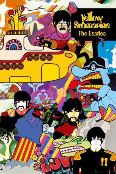 The Beatles Yellow Submarine Music Rock Pop Maxi Poster Print 61x91.5cm | 24x36
