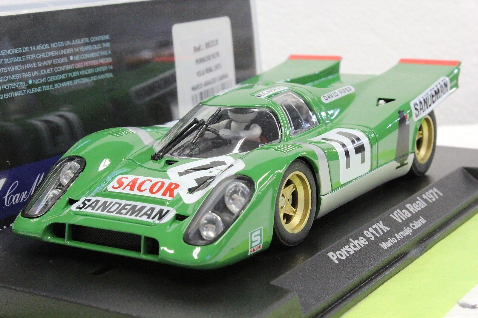 Fly 88318 Porsche 917k David Piper Vila Real Nuevo 1 32 Slot Coche en caso de exhibición