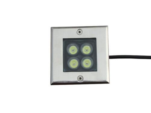 10 x 4W DC12v LED Inground Light Garden Yard Path Underground Lamp Pure White