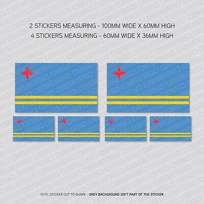 6 x Brazil Brazilian Flag Vinyl Stickers Decals Window Car Van SKU5529