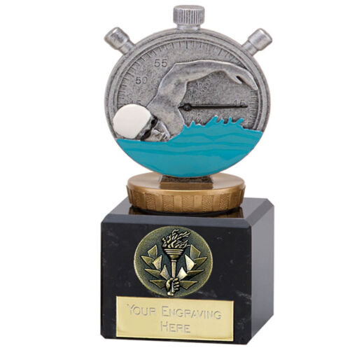"""*Swimming Trophy Award on a Marble Base 3 Sizes/"""" FREE ENGRAVING/"""""""