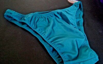 Men newest Teal swimsuit  s m l or xl  Made in USA brief Rio USA