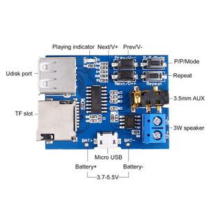 5V-3W-MP3-Audio-Decoder-Power-Amplifier-Board-Micro-USB-TF-Card-SL