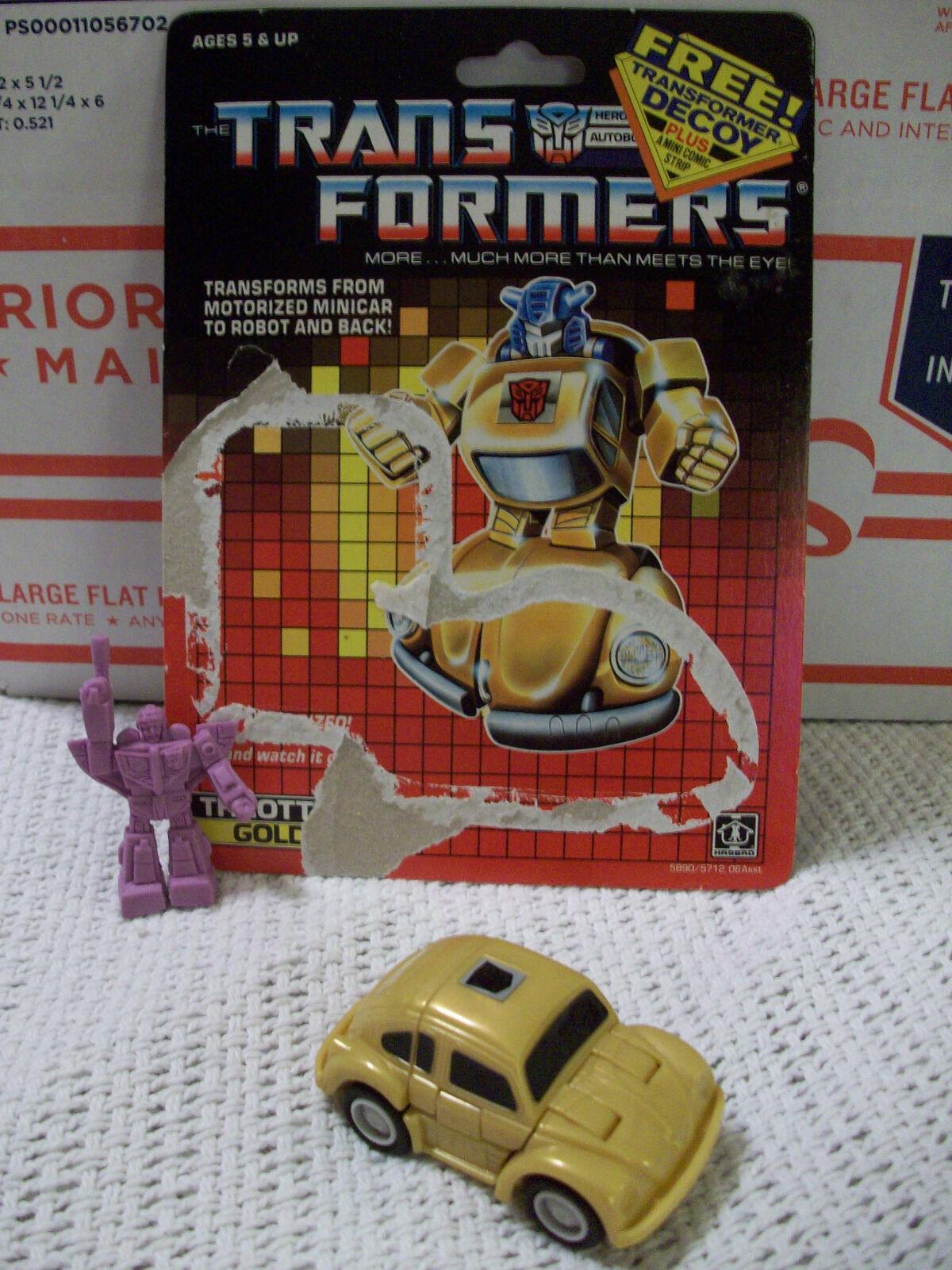 Transformers 1987 Thredtlebot goldbug 1986 Astredrain Decoy Card G1 Bumblebee Bumblebee Bumblebee 8ce0ba