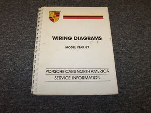 1987 porsche 911 carrera turbo 924s 928s 4 electrical wiring diagram manual  | ebay  ebay