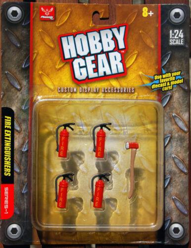 Hobby Gear 1:24 17017 Feuerlöscher und Axt Werkstatt Autoreparatur Werkzeug