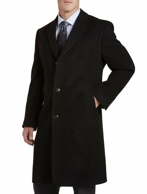 competitive price 2eeb1 aaf7b $495 Daniel Hechter Men'S Black Wool Blend Peacoat Overcoat Top Coat Jacket  42r