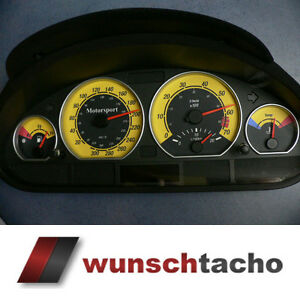Detalles De Discos Para Velocimetro Bmw E46 Gasolina Amarillo 310 Kmh M3