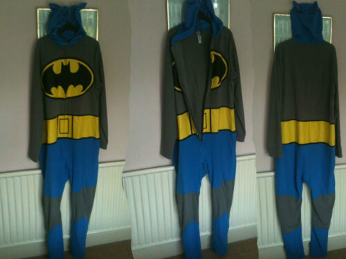 Size Costume 42 Fleece Size Batman Hooded Large Fleece Costume 44 Large Mens Hooded Onepiece 42 44 Batman Onepiece Mens qxwTapH6pF