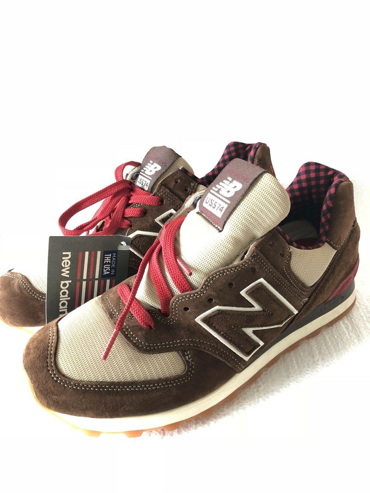 New Balance Classics 574 Paul Bunyan rouge marron Made In USA US574 M574PB Sz 9