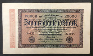 GERMANY (Weimar Republic) 20000 Mark, 1923, World Currency