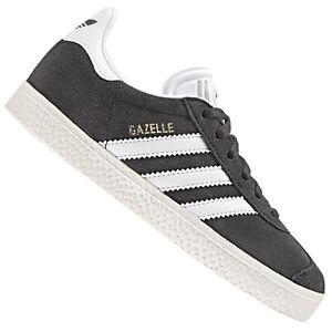 no sale tax 100% top quality various design Détails sur Adidas Originals Gazelle Enfants Garçons Chaussures en Cuir  Baskets Gris Foncé