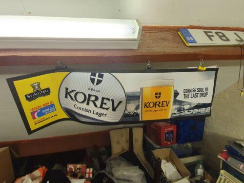 KOREV CORNISH LAGER New Rubber Backed Bar Runner