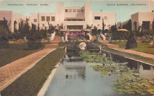 Samarkand-Persian-Hotel-Santa-Barbara-CA-Early-Hand-Colored-Postcard-Unused