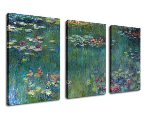 Canvas Wall Art Decor Water Lilies Claude Monet Painting Print on Canvas Print