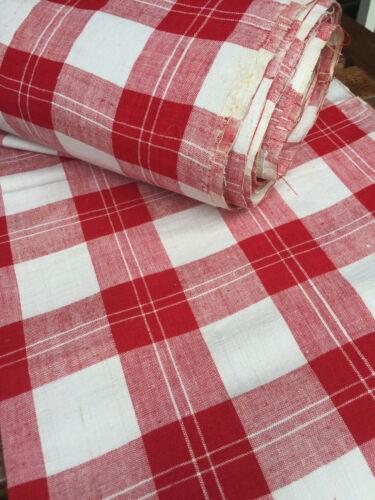 Ballen Bauern Leinen Karo rot//weiss  500//69,5 cm um 1900,Antique Linen Fabric