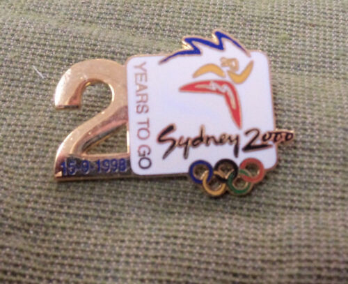 #P345. SYDNEY 2000 OLYMPIC COUNTDOWN PIN 2 YEARS TO GO