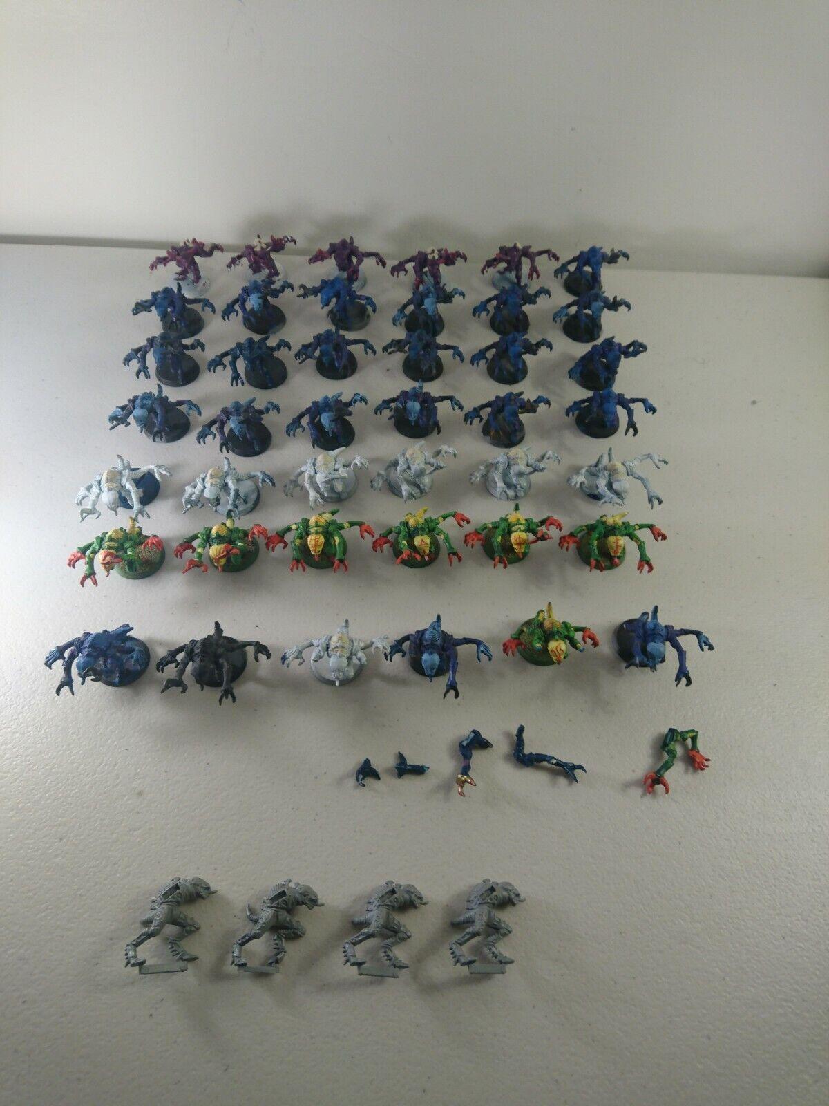 GW  Warhammer 40k 40,000 Tyranid Esercito SQUADRA spazio HULK genestealers x 38 (+8)  negozio d'offerta