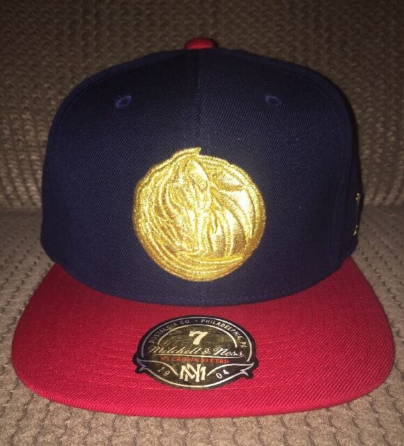 on sale 91102 779d4 New Usa Flag Dallas Mavericks NBA Mitchell and Ness Fitted Cap Hat 7