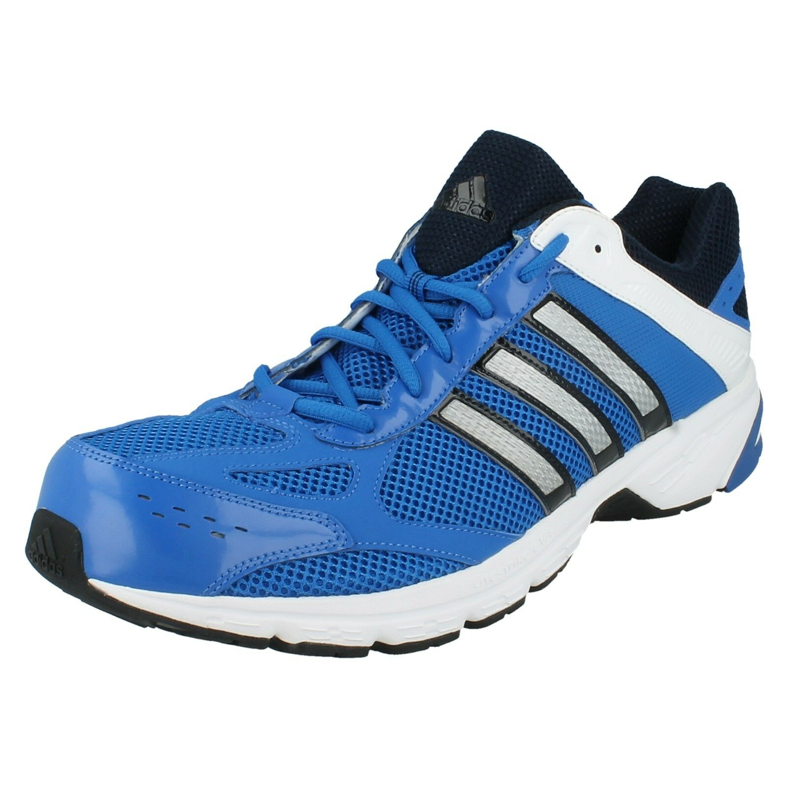Para Hombre ADIDAS DURAMO 4M V21929 Azul Casual de malla de encaje Zapatillas Zapatos Correr