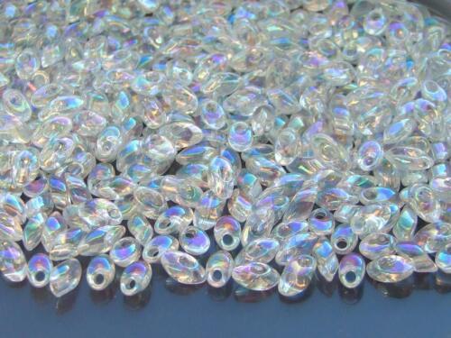 100g Miyuki Long Magatama 4x7mm Beads Crystal AB WHOLESALE