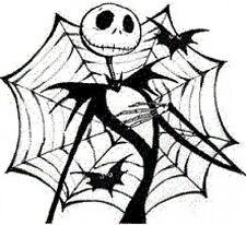 20 water slide nail decals Jack Skellington spider web Halloween Trending