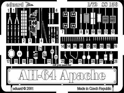 Eduard Zoom SS156 1/72 Boeing AH-64 Apache Academy