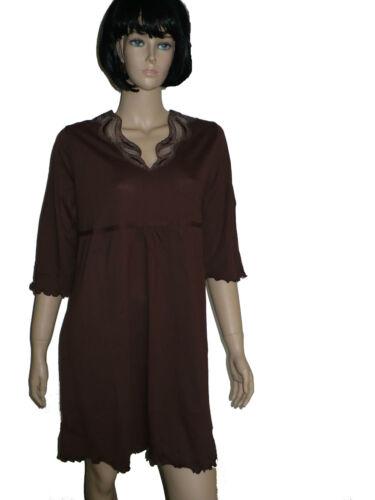 Damen Nachthemd Baumwolle//Modal 3//4 Arm,Marke Fauser Deutschland Gr.38-54