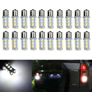 20x-DC12V-1156-1141-1003-BA15S-18-SMD-Interior-RV-Camper-White-LED-Light-Bulbs