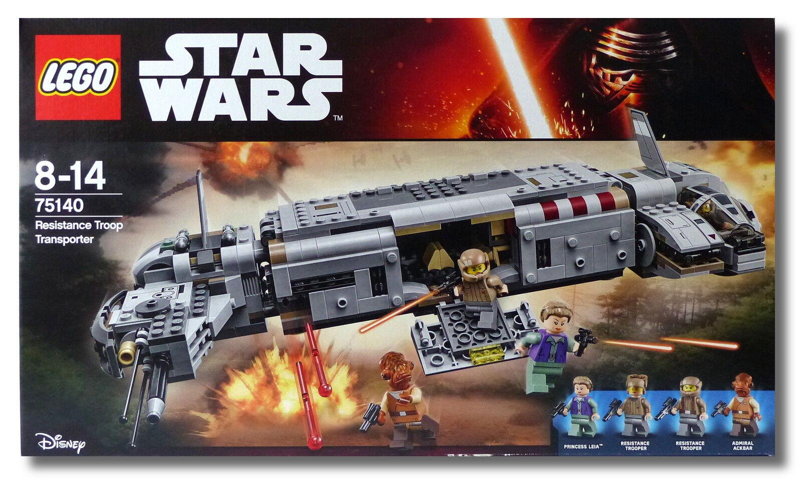 LEGO ® Star Wars ™ 75140  RESISTANCE TROOP Transporteur  Nouveau Neuf dans sa boîte New En parfait état, dans sa boîte scellée