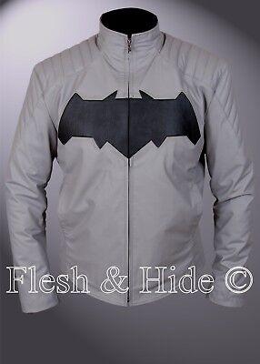 Batman Dawn Of Justice Bruce Wayne Arkham Knight Black Shield Gray Jacket