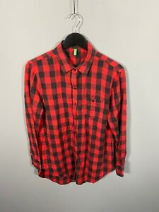 UNITED-COLORS-OF-BENETTON-Shirt-Medium-Check-Great-Condition-Women-s