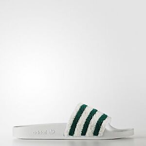 b8a2a6a75 Image is loading New-Adidas-Sweatband-ADILETTE-Slides-Sandals-Mens-White-