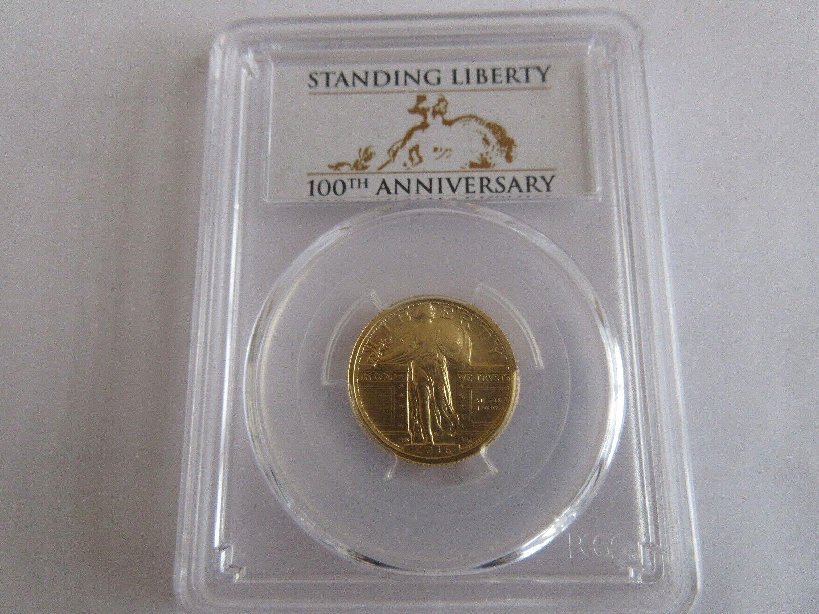 2016-W 1/4 oz. Gold Standing Liberty Quarter Centennial