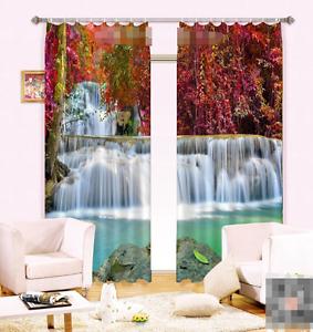 3d cascada árbol 6 bloqueo foto cortina cortina de impresión sustancia cortinas de ventana