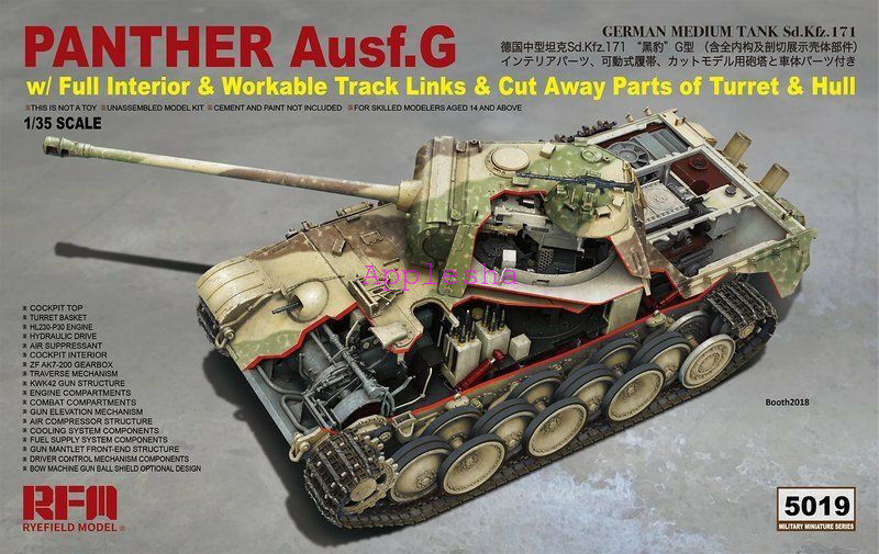 Ryefield Model RM5019 1 35 Panther Ausf.G w Full Interior New 2019