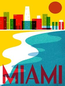 Image is loading 4168 miami travel ad beach city landscape art